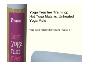 Yoga Teacher Training: Best Hot Yoga Mats vs. Unheated Yoga Mats