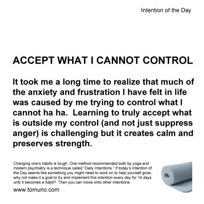 DI30a_Accept What Cannot Control