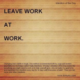 DI31_Leave Work At Work