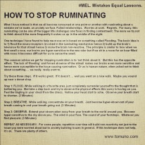How not to ruminate